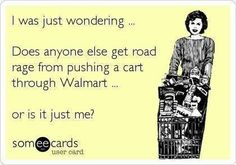 Road rage; with a grocery cart!!