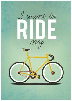 I Want To Ride My Bicycle A2 Poster Limited Edition. £20.00, via Etsy.