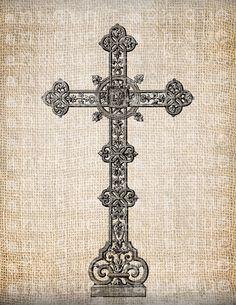 Antique Cross Christian Symbol Christ Ornate by AntiqueGraphique, $1.00