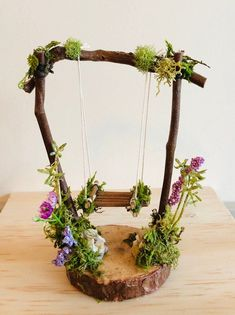 Fairy Swing by Olive* ~ Tiniest Fairy Swing~ handcrafted by Olive ~ gazing ball included,Faerie Swing, Fae Swing, Faerie, Fairy Accessories Related posts:Fimo Best DIY Miniature Fairy Garden Ideas in 2019 Diy Fairy Garden Ideas 20 Fairy Garden Furniture, Fairy Garden Houses, Diy Fairy Garden, Garden Ideas, Fairy Garden Figurines, Garden Hose, Diy Fairy House, Fairy Gardening, Fence Ideas