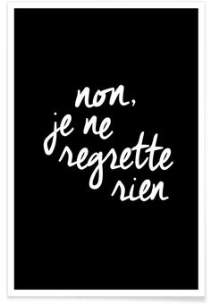 ich bereue nichts! Edith Piaf Saying Quote Zitat Song Chanson