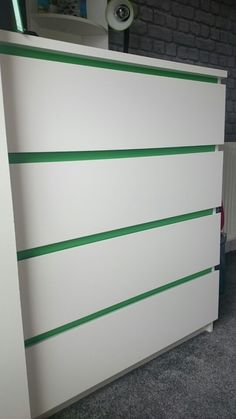 Ikea malm drawers with a wee splash of colour