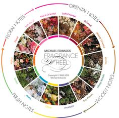 the fragrance wheel - by Michael Edwards - Fragrances of the World.
