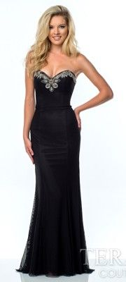 Black Sweetheart Embellished Gown