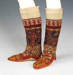 Socks   Macedonian   The MetSocks Date:fourth quarter 19th century Culture:Macedonian
