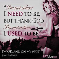 Im OK and on my way!