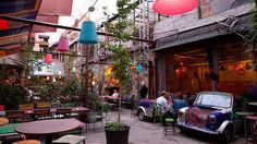 Shabby chic: Budapest's Hungary 'ruin bars' such as Szimpla Kert redefine eclectic.