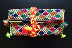 Vintage Kilim #Clutch : made out of a vintage kilim rug from Morocco #handmade #bag #girl #accessories #maroc