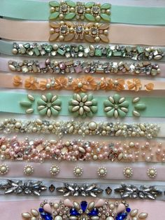 38 Ideas Embroidery Designs Fashion Embellishments Sequins For 2019 Pearl Embroidery, Couture Embroidery, Bead Embroidery Jewelry, Embroidery Fashion, Embroidery Dress, Beaded Embroidery, Beaded Jewelry, Bead Embroidery Tutorial, Bead Embroidery Patterns
