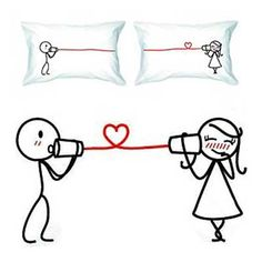 """$36.00 """"Say I Love You"""" Couple Pillowcases   Cool People Shop"""