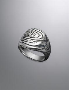 David Yurman | Men | Rings: Ironwood Cushion Signet Ring