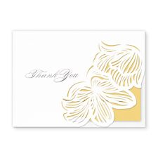 laser cut floral lace ii - thank you cards