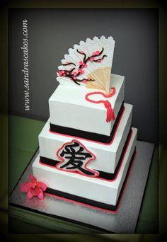 Sandra's Cakes. Asian inspired wedding or celebration cake