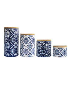 Loving this Pirouette Blue Canister Set on #zulily! #zulilyfinds