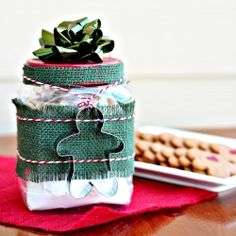 This gingerbread mix is adorable and perfect for gift giving this season. Even better, the cookies taste great!