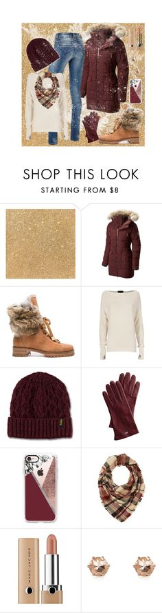 """""""Snows Acoming"""" by freida-adams ❤ liked on Polyvore featuring SOREL, Alexandre Birman, Exclusive for Intermix, Dr. Martens, Mark & Graham, Casetify, Charlotte Russe and River Island"""