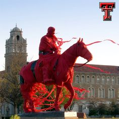 Texas Tech Bleed Red Aww, I remember these days!  I used to walk by him all the time