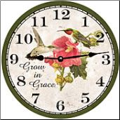 Hummingbird Round Wall Clock (SKU: MDC-GIG) http://www.clocksaroundtheworld.com/mdc-sun-flower-wall-clock.html
