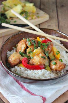 Pineapple Glazed Chicken Rice Bowl - Brown Sugar