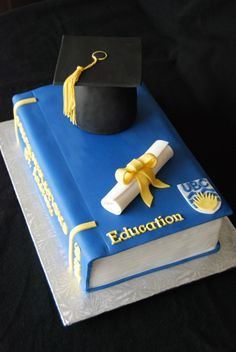 Graduation Book Cake By Marniela on CakeCentral.com