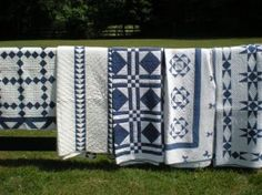 Quilt show Blue and white..my favorite!