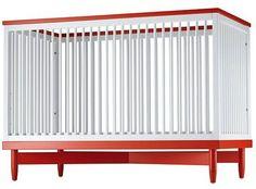 Add color to your crib. #orange  #nursery