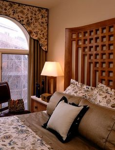 Idea for curtains and funny arch windows.....