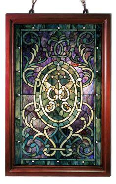 Tiffany Style Window Panel by Warehouse of Tiffany HF-195