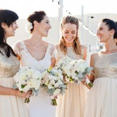 #gold bridesmaids dresses... Wedding ideas for brides, grooms, parents & planners ... https://itunes.apple.com/us/app/the-gold-wedding-planner/id498112599?ls=1=8 … plus how to organise an entire wedding ♥ The Gold Wedding Planner iPhone App ♥