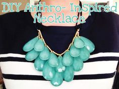 DIY Anthro-Inspired Statement Necklace using acrylic crystals an nail polish
