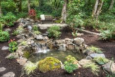 Garden Pond Waterfall Design Ideas, Pictures, Remodel and Decor