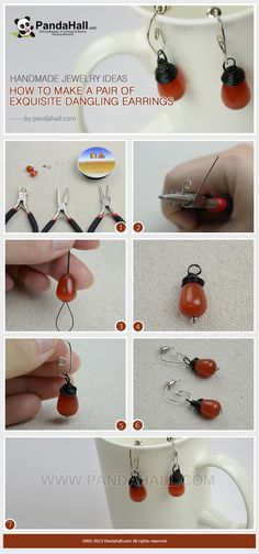 Earrings consist of versatile beads have been around for all ages. And in the new homemade jewelry ideas, I will show you the way making an earring hook with a headpin. All stuffs needed are inexpensive and easy-get.