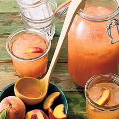 Peach Lemonade Recipe _  Oxmoor House_    Peaches add sweet, mellow roundness to traditional lemonade for a refreshing summertime beverage.