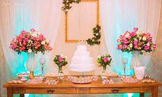 Rustic Peach Wedding, Sweet Buffet, Gold Bridal Showers, Wedding Decorations, Table Decorations, Cake Table, Bridal Lace, Mermaid Wedding, Flower Arrangements