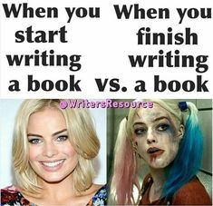 Starting vs Finishing A Book - Writers Write