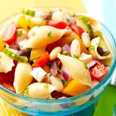 Greek Pasta Salad #recipe yummers!