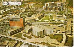 Vista aerea de la Ciudad Universitaria de Caracas con motivo al Cuatricentenario de la Ciudad 1967