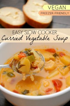 This curried vegetable soup is one of the best Indian dishes I have ever made! Not only is it delicious, it's so simple to make, because you just throw everything into your slow cooker!