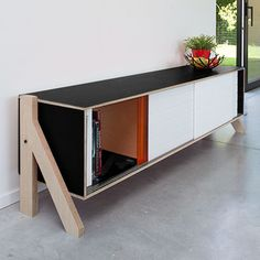 Lg. Frame Sideboard - Black - by rform #MONOQI #
