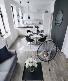 Departamento The post Departamento appeared first on wohnungeinrichten. Small Apartment Interior, Apartment Design, Apartment Living, Small Appartment, Casa Hotel, Living Room Decor, Living Spaces, Home Decor Accessories, Home And Living