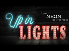 How to Make Neon Signs in Procreate: Video tutorial - Uproot Jewellery