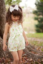 New Toddlers Girls Lace Floral Jumpsuit Playsuit One-piece Romper Kids Clothes 2-7Y(China (Mainland))