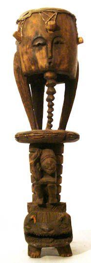 Wooden African Akan Drum #436   Drums   Instruments — Deco Art Africa - Decorative African Art - Ethnic Tribal Art - Art Deco