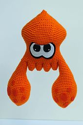Inspired by the video game, Splatoon, these squids are cute and colorful and great for fans of the game or lovers of cephalopods! With this pattern, you can make you own squid buddy!