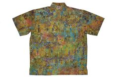 Mozambique - 100% cotton button up Hawaiian style shirts represented by Human Arts Gallery in Ojai, CA.