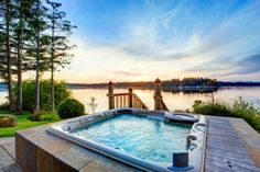 You're officially invited to relax this weekend! #HotTub