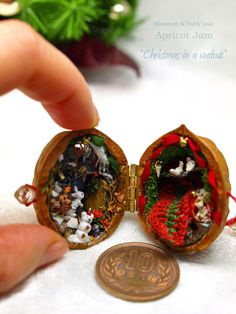 christmas in a walnut
