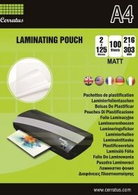 Cerratus laminating pouch 125 mic - 25 pcs in pack High Gloss, Binder, The 100, Pouch, Madness, Handkerchief Dress, Trapper Keeper, Porch, Financial Binder