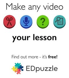 Make any video your lesson with Edpuzzle.com - This free website is amazing! You can crop a video to show just what you need, you can add your own voice to explain the video, and you can even add quiz questions during the video! WOW!