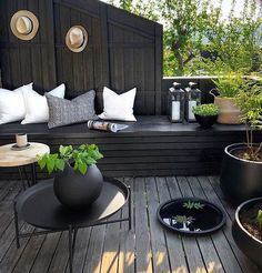 TV GARDEN DESIGN AT - Therese Knutsen, GOOD MORNINGFirst morning coffee on our new built terrace seatSummer vibes in lesund todaySmall video up on my storySo happy that our outdoor areas fi. Outdoor Areas, Outdoor Lounge, Outdoor Rooms, Outdoor Living, Outdoor Furniture Sets, Outdoor Decor, Furniture Ideas, Casa Patio, Backyard Patio